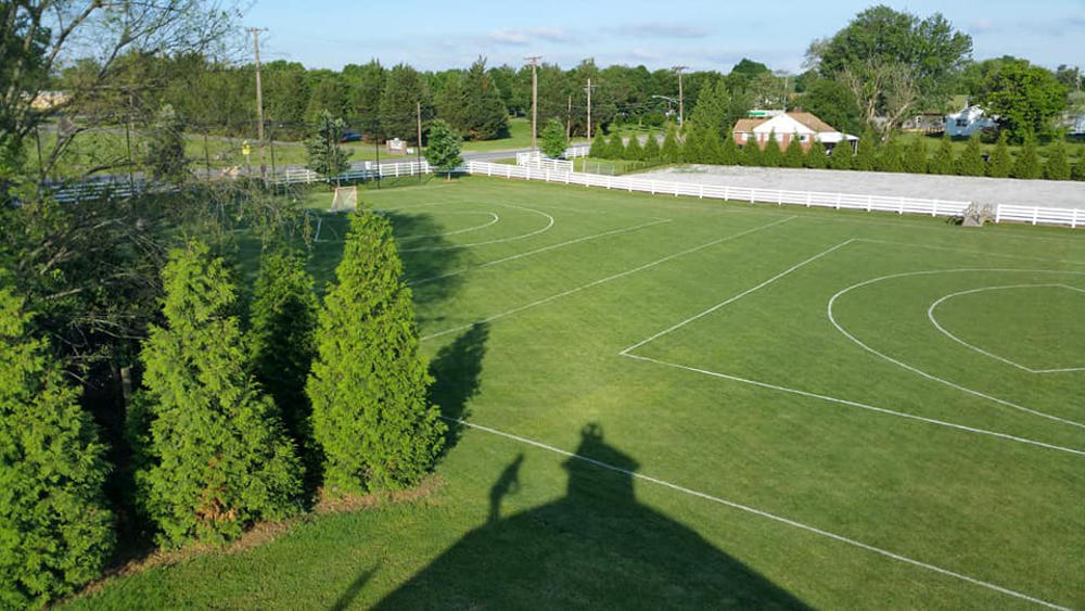 Lined Outdoor Field